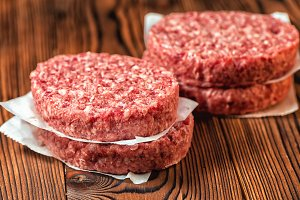 raw ground beef meat for hamburger