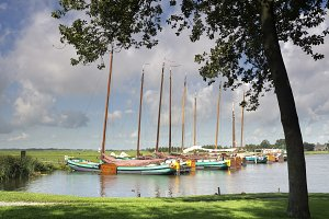 Sailing ships in the Sleattemer Gat