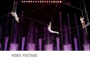 Aerial acrobatics show.