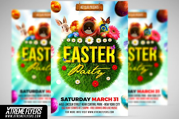 easter flyer template spring and easter flyer template template