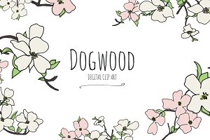 Dogwood - Digital Clip Art
