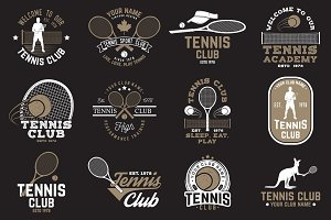 Set of Tennis club badges