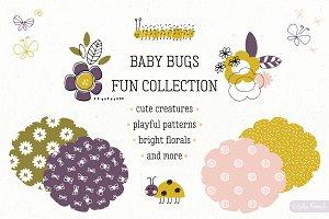 Baby Bugs hand drawn set