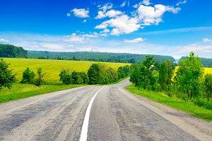 Rural paved road