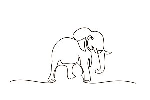 Elephant walking symbol