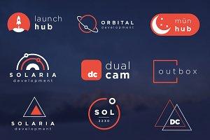 10 Futuristic / Minimalist Logo Pack