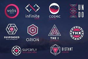 10 Futuristic logos pack