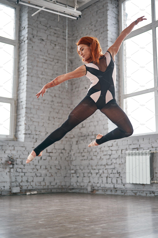 Beautiful Ballet Dancer Posing In Dance Studio High Quality Sports Stock Photos Creative Market