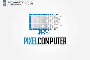 Pixel Computer Logo