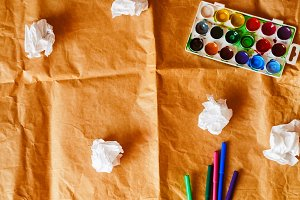 crumpled paper. creative chaos. felt