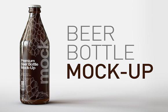 Beer Bottle Mock-Up Long Neck
