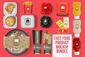 Fast Food Product PSD Mockup Bundle