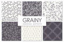 Grainy. Seamless Patterns Set
