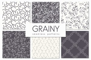 Grainy. Seamless Patterns Set