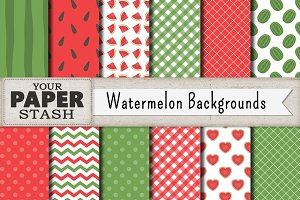 Watermelon Digital Paper Background