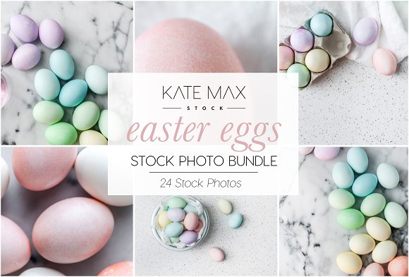 Easter Eggs Stock Photo Bundle