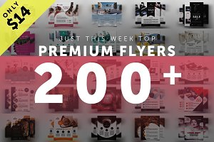 200+ Premium Flyers Bundle 99% OFF