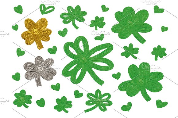 St Patricks Day Design Of Clover