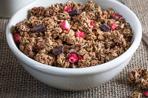 Chocolate Granola with Coffee