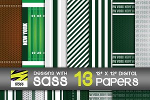 Digital Paper, New York Football