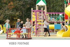 Children playing outdoor playground