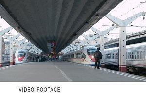High speed train Sapsan departs