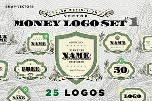 Vector Logo Money Set #1