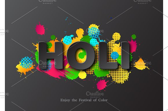 Holi Holiday Card