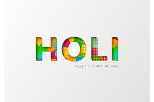 Holi holiday card.