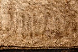 Burlap sacking texture