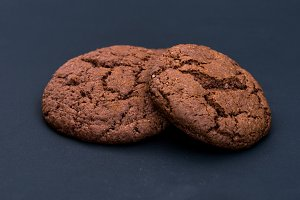 Two chocolate gingerbread. Gingerbre