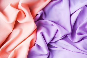 pink and purple fabrics