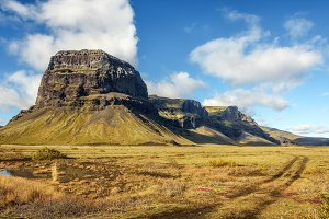 Scenic landscape in Iceland
