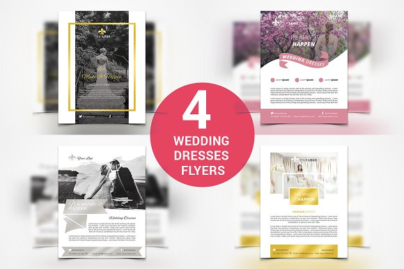 4 Wedding Dresses Flyers
