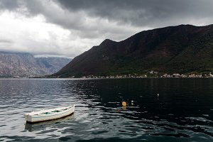 mountain in the town of Perast