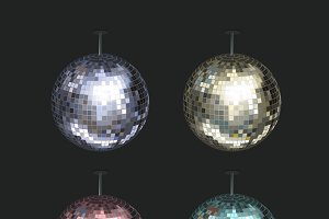 Vector set of disco balls