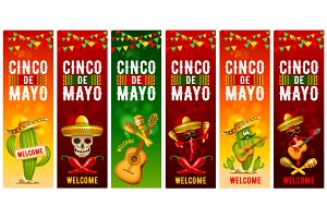 Cinco De Mayo Mexican Vector Banners