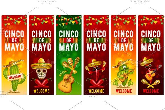 Cinco De Mayo Mexican Vector Banners