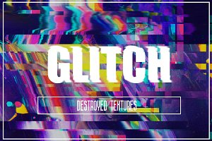 30 high resolution abstract glitch