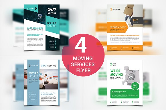 4 Moving Services Flyers