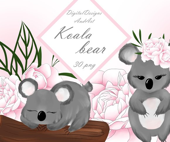 Cute Koala Clipart