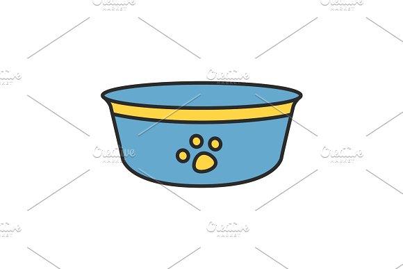Dog's Bowl Color Icon