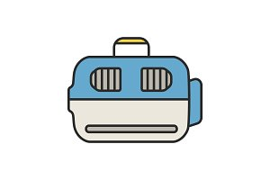 Pet carrier color icon
