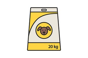 Dog's food color icon