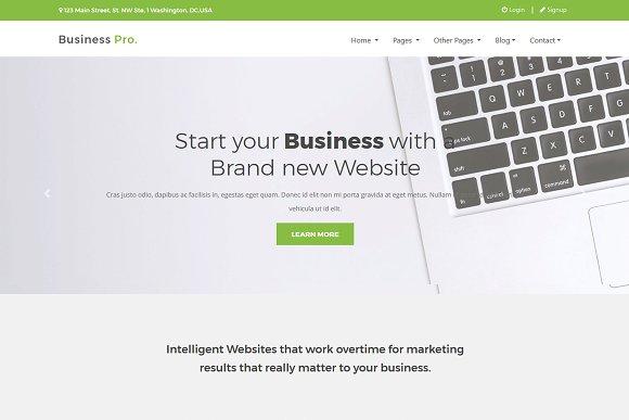 BusinessPro Responsive WP Theme