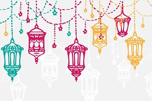 Ramadan Arabic background