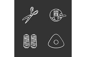 Tailoring chalk icons set