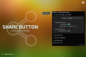 Share Button - Adobe Muse Widget