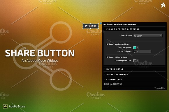 Share Button Adobe Muse Widget