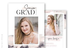 Watercolor Senior Graduation Card